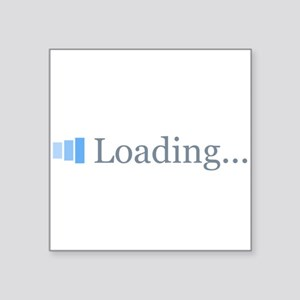 "Loading...Obama 2012 Square Sticker 3"" x 3"""
