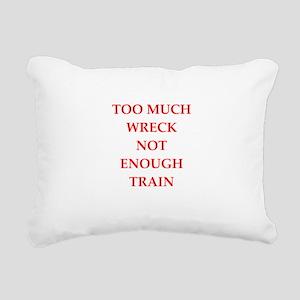 train wreck Rectangular Canvas Pillow