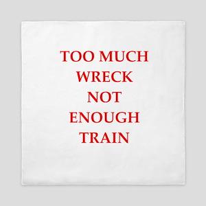train wreck Queen Duvet
