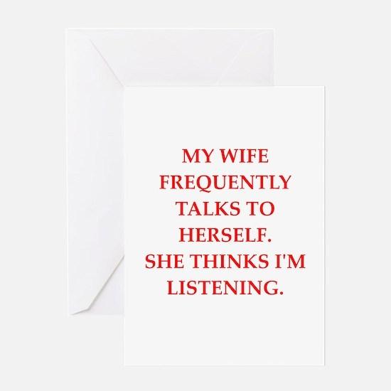 wife Greeting Card