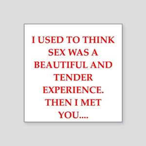 "sex Square Sticker 3"" x 3"""