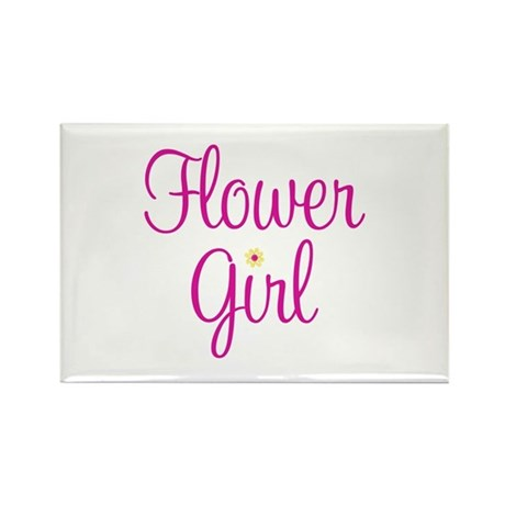 Flower Girl Rectangle Magnet