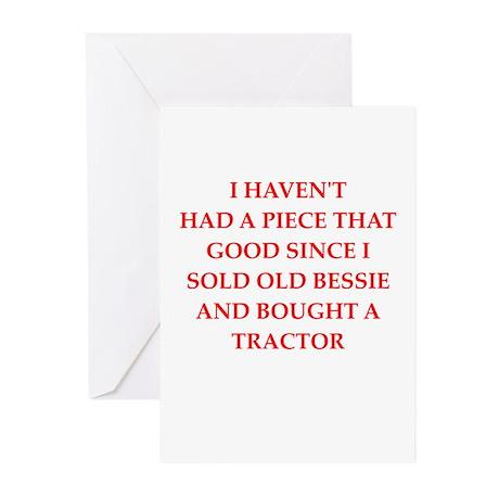 cow joke Greeting Cards (Pk of 20)
