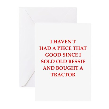 cow joke Greeting Cards (Pk of 10)