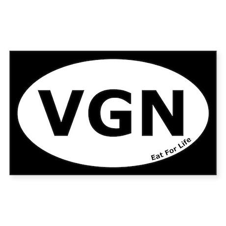 Vegan Euro Oval Sticker