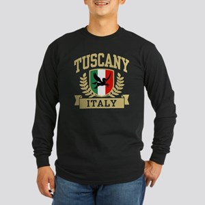 Tuscany Italy Long Sleeve Dark T-Shirt