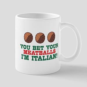 Funny Italian Meatballs Mug