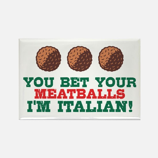 Funny Italian Meatballs Rectangle Magnet