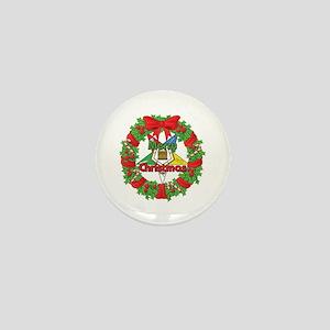 OES Wreath Mini Button