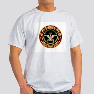 IMMIGRATION and CUSTOMS ICE: Ash Grey T-Shirt