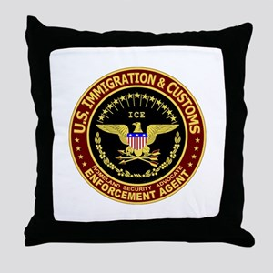 IMMIGRATION and CUSTOMS ICE:  Throw Pillow