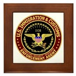 IMMIGRATION and CUSTOMS ICE: Framed Tile
