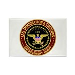 IMMIGRATION and CUSTOMS ICE: Rectangle Magnet (10