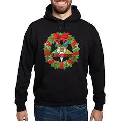OES Christmas Wreath Hoodie (dark)