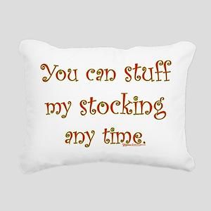 StuffMyStockingBlk Rectangular Canvas Pillow
