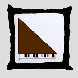 Piano #3 - Brown - Throw Pillow