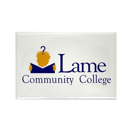 Lame Community College Rectangle Magnet