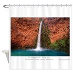 MooneywBlue14x10 Shower Curtain