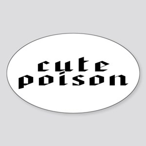 CUte POiSOn Oval Sticker