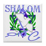 Jewish Peace (Shalom) Tile Coaster
