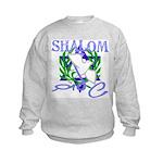 Jewish Peace (Shalom) Kids Sweatshirt