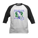 Jewish Peace (Shalom) Kids Baseball Jersey