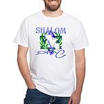 Jewish Peace (Shalom) White T-Shirt