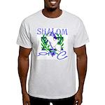 Jewish Peace (Shalom) Ash Grey T-Shirt