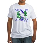Jewish Peace (Shalom) Fitted T-Shirt
