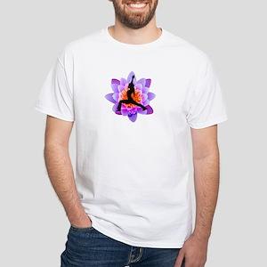 Lotus Yogini White T-Shirt
