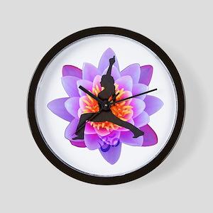 Lotus Yogini Wall Clock