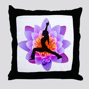 Lotus Yogini Throw Pillow