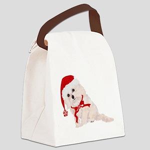 Adorable Christmas Cockapoo Canvas Lunch Bag