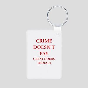 crime Aluminum Photo Keychain