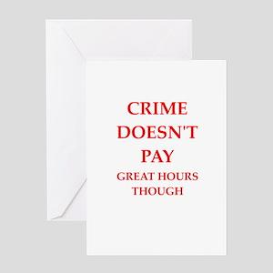 crime Greeting Card