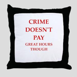 crime Throw Pillow