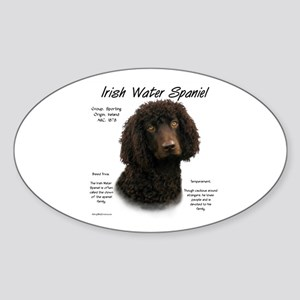 Irish Water Spaniel Sticker (Oval)