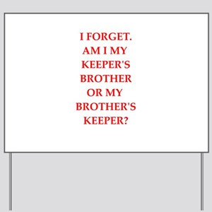 brother;s jeeper Yard Sign