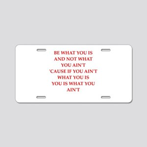 be tourself Aluminum License Plate