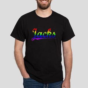 Jacks, Rainbow, Dark T-Shirt