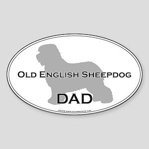 Old English Sheepdog DAD Oval Sticker
