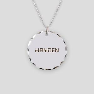 Hayden Circuit Necklace Circle Charm