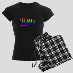 Kitts, Rainbow, Women's Dark Pajamas