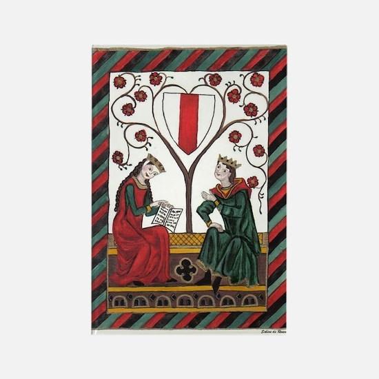Manesse Codex Tafel 103 Rectangle Magnet