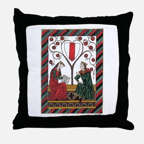 Manesse Codex Tafel 103 Throw Pillow