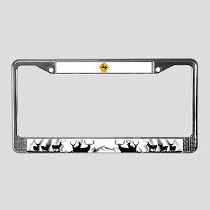 Better buck caution License Plate Frame