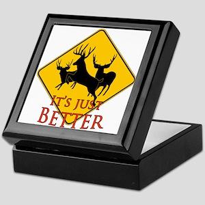 Better buck caution Keepsake Box