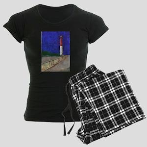 Old Barney Lighthouse Women's Dark Pajamas