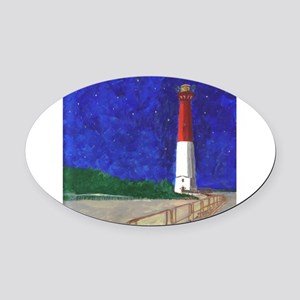 Old Barney Lighthouse Oval Car Magnet