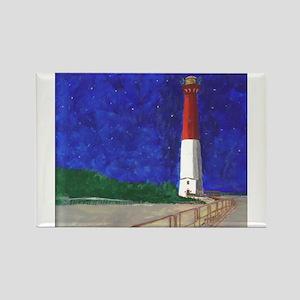 Old Barney Lighthouse Rectangle Magnet